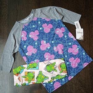 LuLaRoe outfit,  Disney Sloan tee, Kermit leggings
